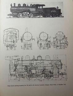 locomotive diagram switching no 218 art drawing