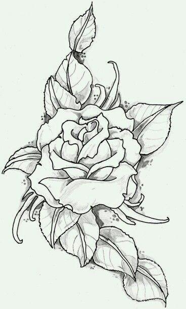1 flower tattoo drawingsrose