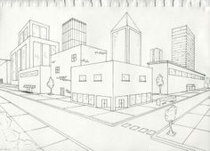 two point perspective 2 point perspective city 2 point perspective drawing perspective art