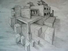 2 point perspective building