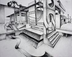 surreal 2 pt perspective perspective by victoria richland via flickr 2 point project