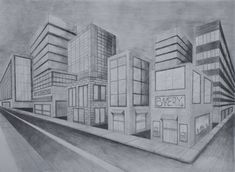 two point perspective city by aude sapere on deviantart