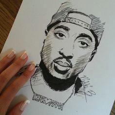 tupac shakur my drawing follow me on instagram artandnovacane
