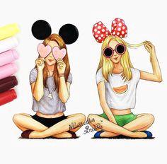 best friends forever a resultado de imagen para imagenes para dibujar a lapiz de mejores amigas cool girl drawings
