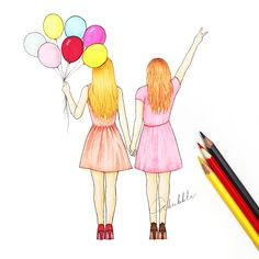 drawings of friends girly drawings tumblr drawings love