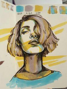 lilybooger 12 05 2016 quick three marker challenge selfportrait 20