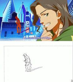 aikatsu animated dancing genga genga comparison yutaka nakamura animation reference 3d animation drawing reference