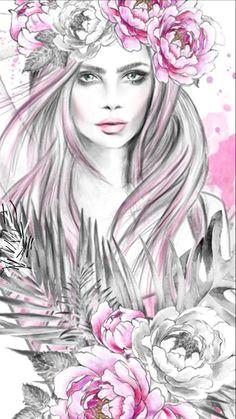 3d Drawing Girl Wallpaper 1010 Best Girly Girl Wallpaper Images Girl Wallpaper Girly Girl