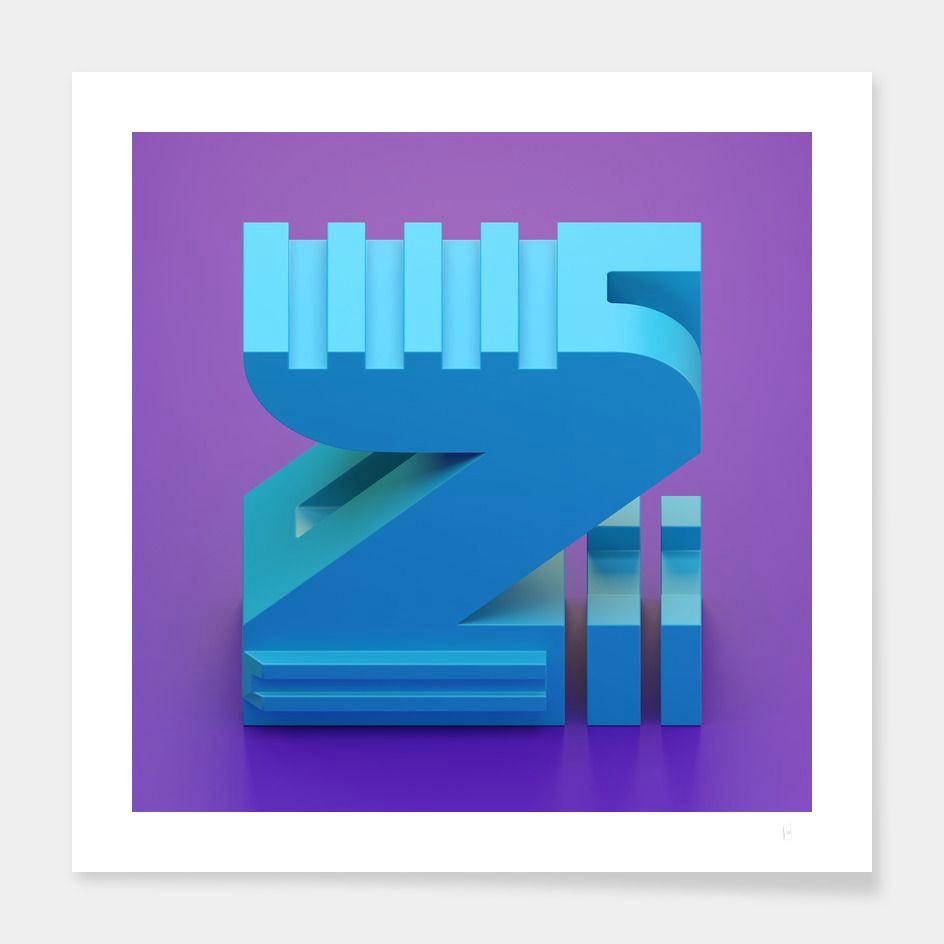 z 3d letters lettering art prints art impressions fine art prints