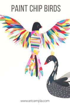 paint chip birds art therapy children vbs crafts cardboard crafts preschool projects