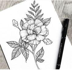 flower sketches flower drawings flower tattoos tattoo sketches tattoo drawings art