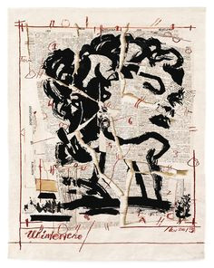 tapesrty designed by william kentridge woven by marguerite stephens weaving studio 86 a 70 in 220 a 180 cm edition of 6