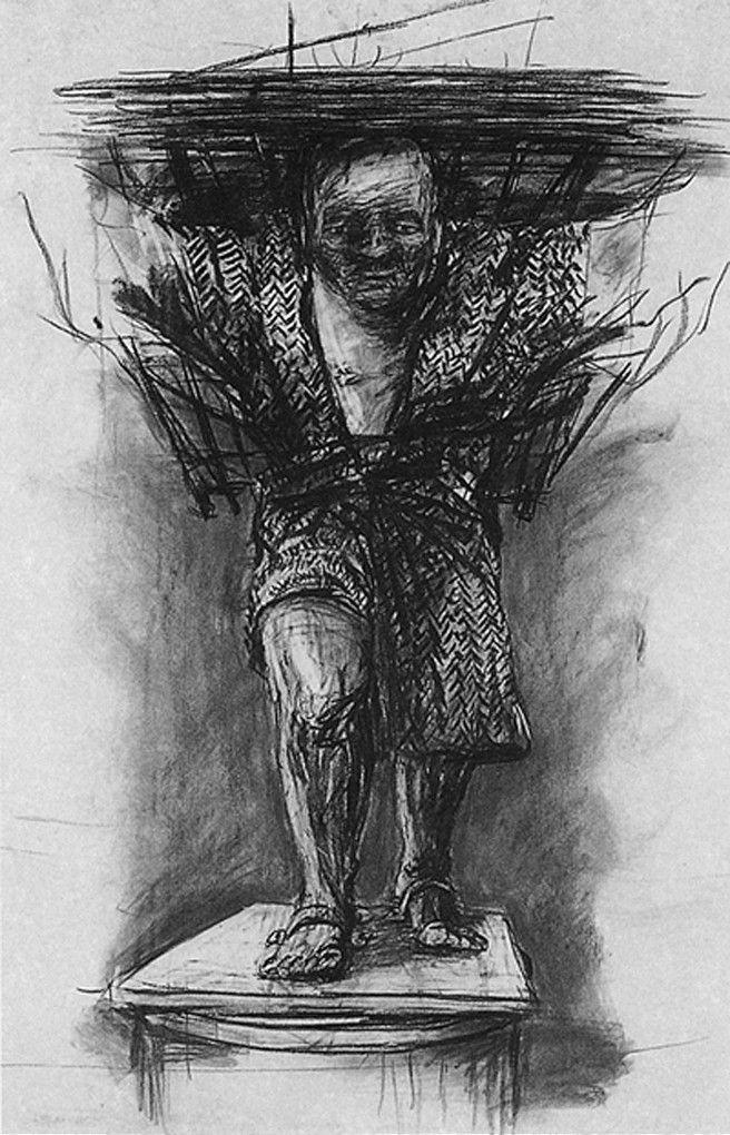 william kentridge drawing for monument 1990