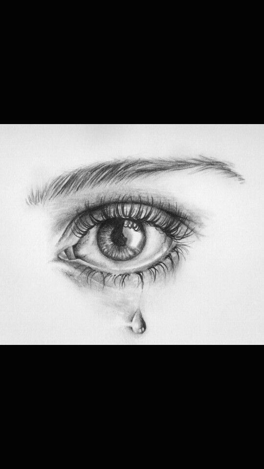 A Drawing Of An Eye Crying Weinendes Auge Art Inspiration Pinterest Drawings Art Und Art