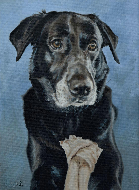 dog portrait painting of doc 12x16ins dogs cute pet portrait
