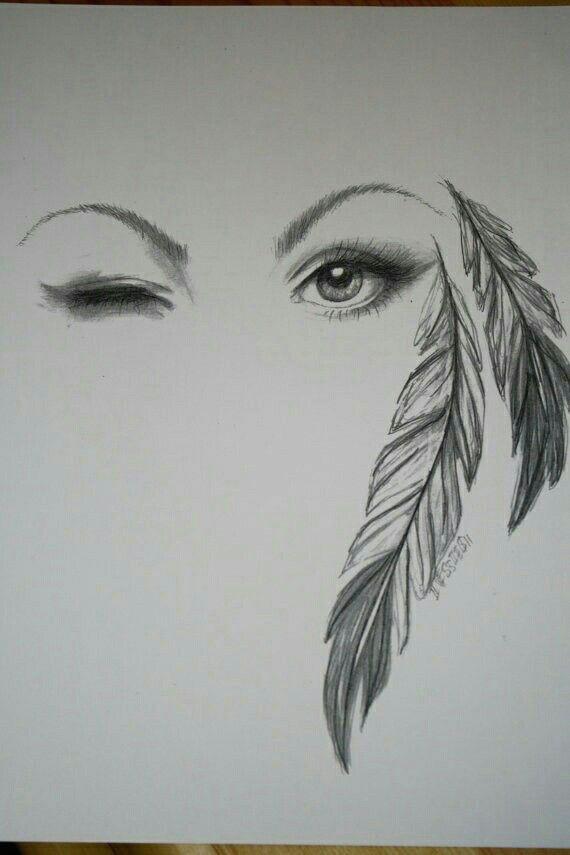 beautiful artwork of the feathered eye amazing drawings beautiful drawings cool drawings