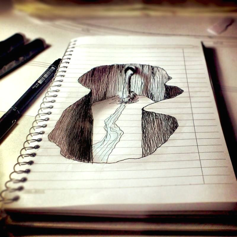 Amazing Easy Drawings 3d Amazing Notebook Doodle Art the Creative Post Amazing Drawings