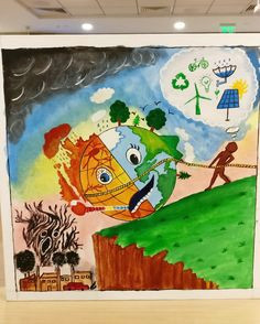 titled save mother earth did this as part of team to participate in an