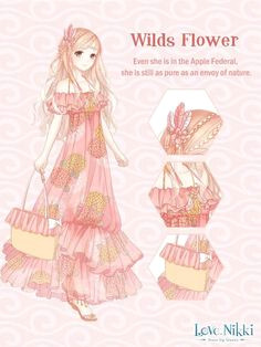 anime outfits dress up diary nikki love anime girl pink anime dress