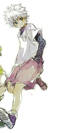 aesthetic boy pattern drawing killua soul eater hunter x hunter anime