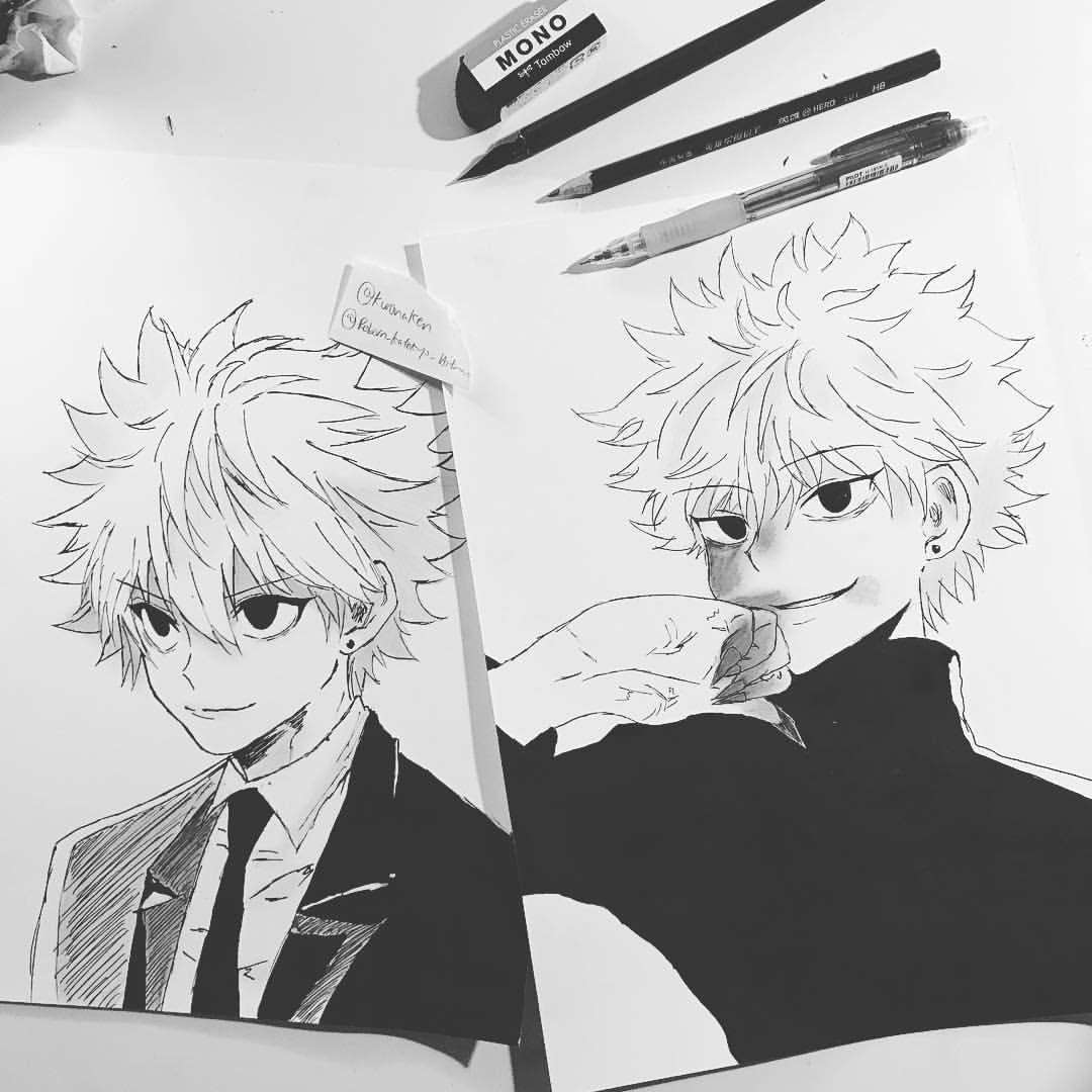 Anime Drawing Killua First Two Killuas Finished Otakus Artsummercontest