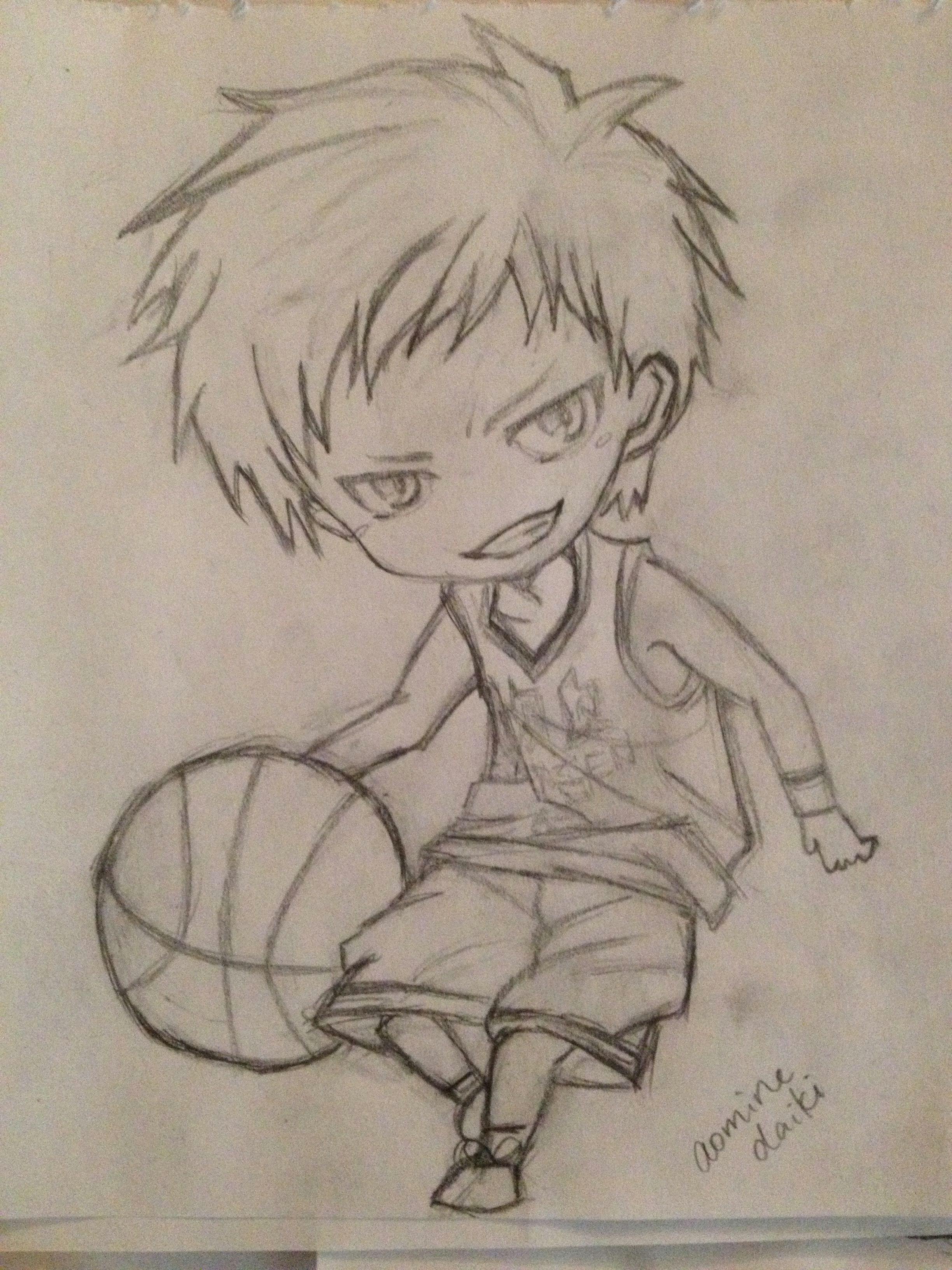 my aomine chibi drawing chibi drawing kuroko