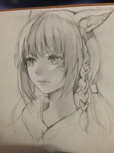 redhead neko manga drawing art manga character sketches drawing sketches character art