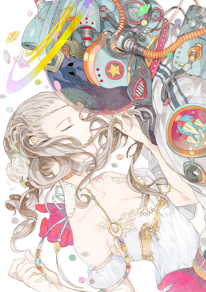 tags anime sousou artist space suit original mobile wallpaper