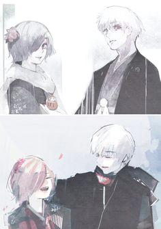 touka and kanekia tokyo ghoul fan art tokyo ghoul manga tokyo ghoul