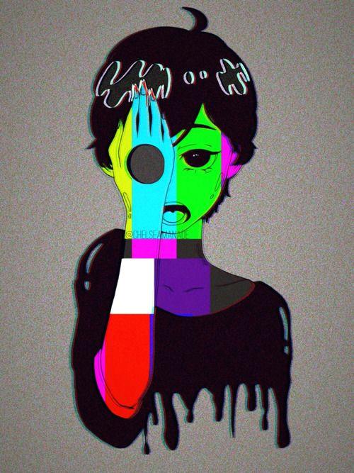 i i cjspaced0ut i i dark anime pastel goth art vent art