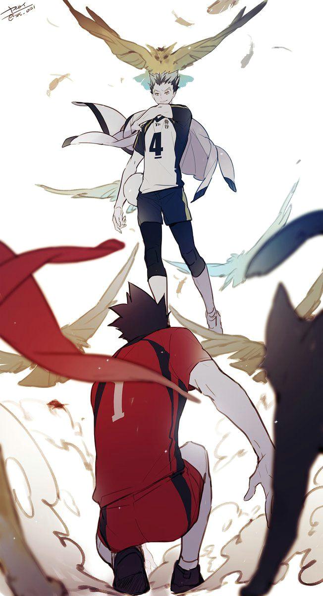 nekoma vs fukurodani haikyuu nekoma kagehina haikyuu fanart bokuto koutarou haikyuu anime