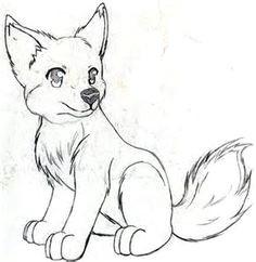 a c anime drawings sketches cute drawings cool wolf drawings cartoon drawings animal