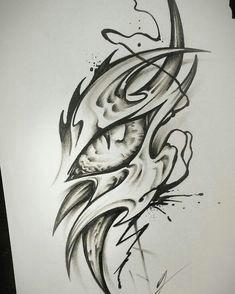 j king on instagram dragon eye tattoo jking