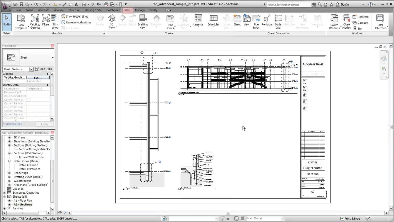 autodesk revit creating sheet views