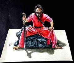 bahubali 2 drawing prabhas 3d drawing of prabhas realistic drawing prabhas drawing