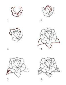draw classic tattoo style rose
