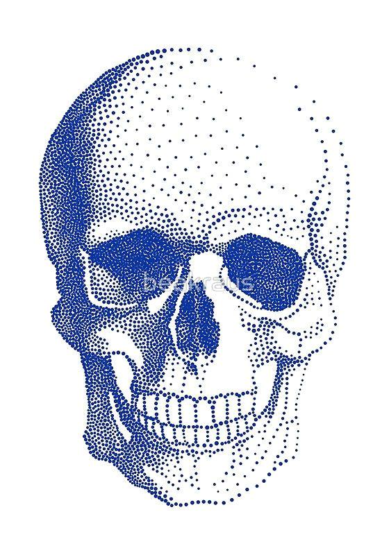 blue human skull by beakraus