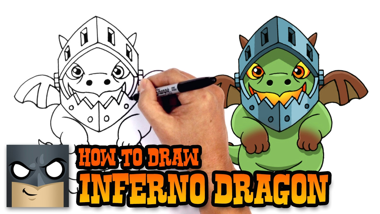 how to draw inferno dragon clash royale