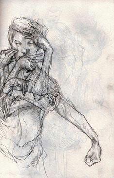 philipp banken sketchbook study of gesture