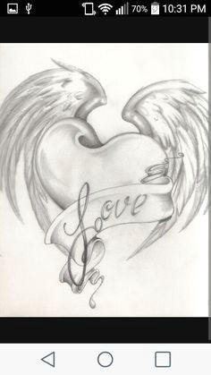 heart wings easy love drawings heart drawings drawings of hearts heart pencil drawing