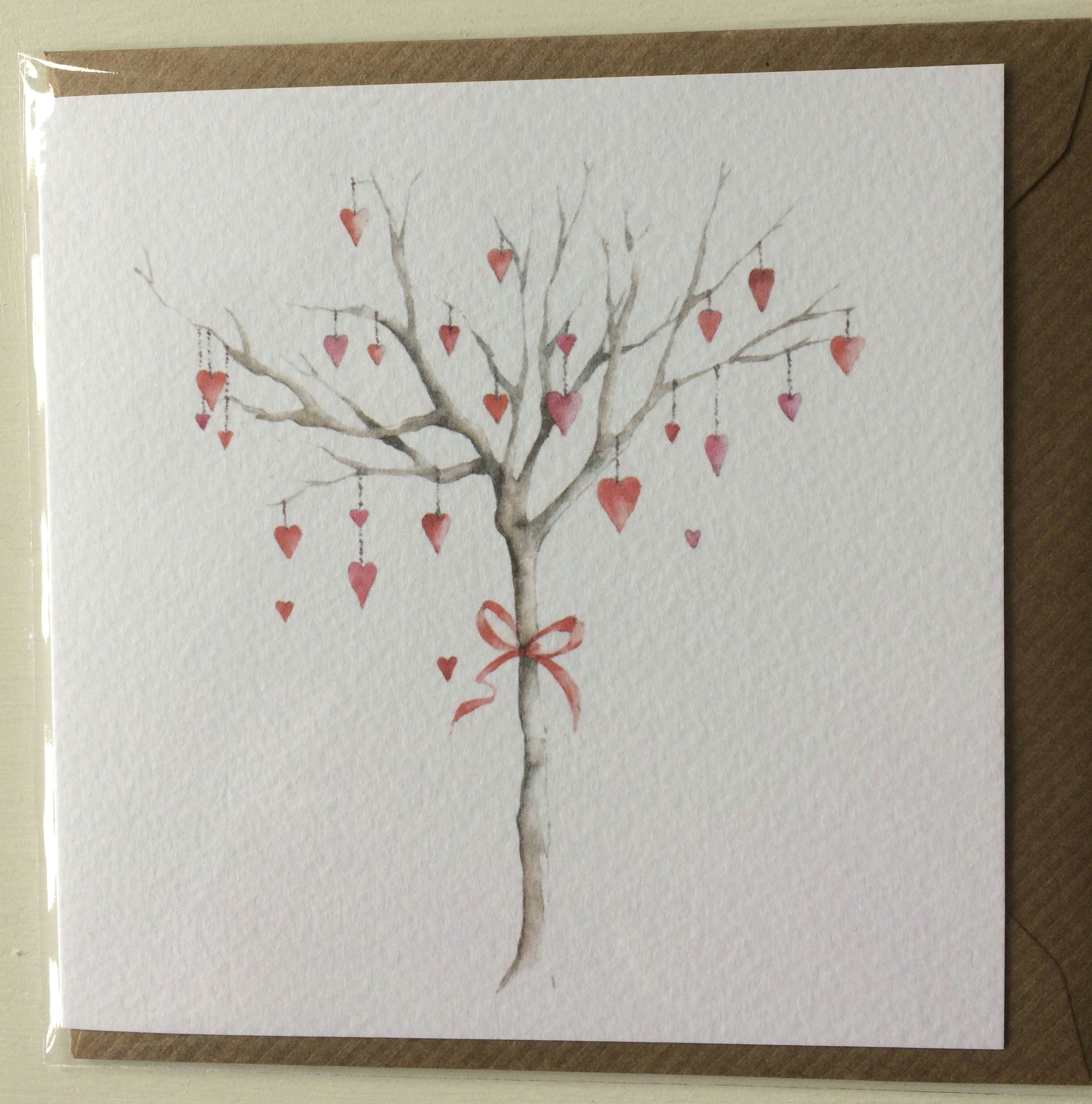 one card notelet x one design embellished images of original watercolour prints by east sussex artist jilly mercer
