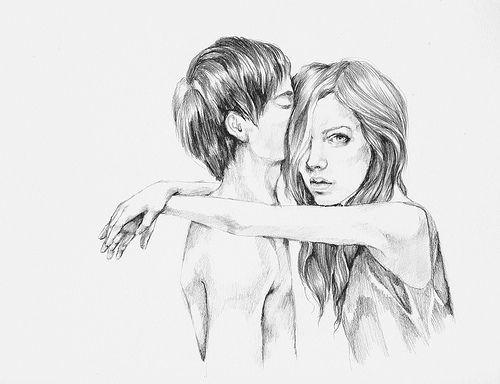 drawing sketch boy girl