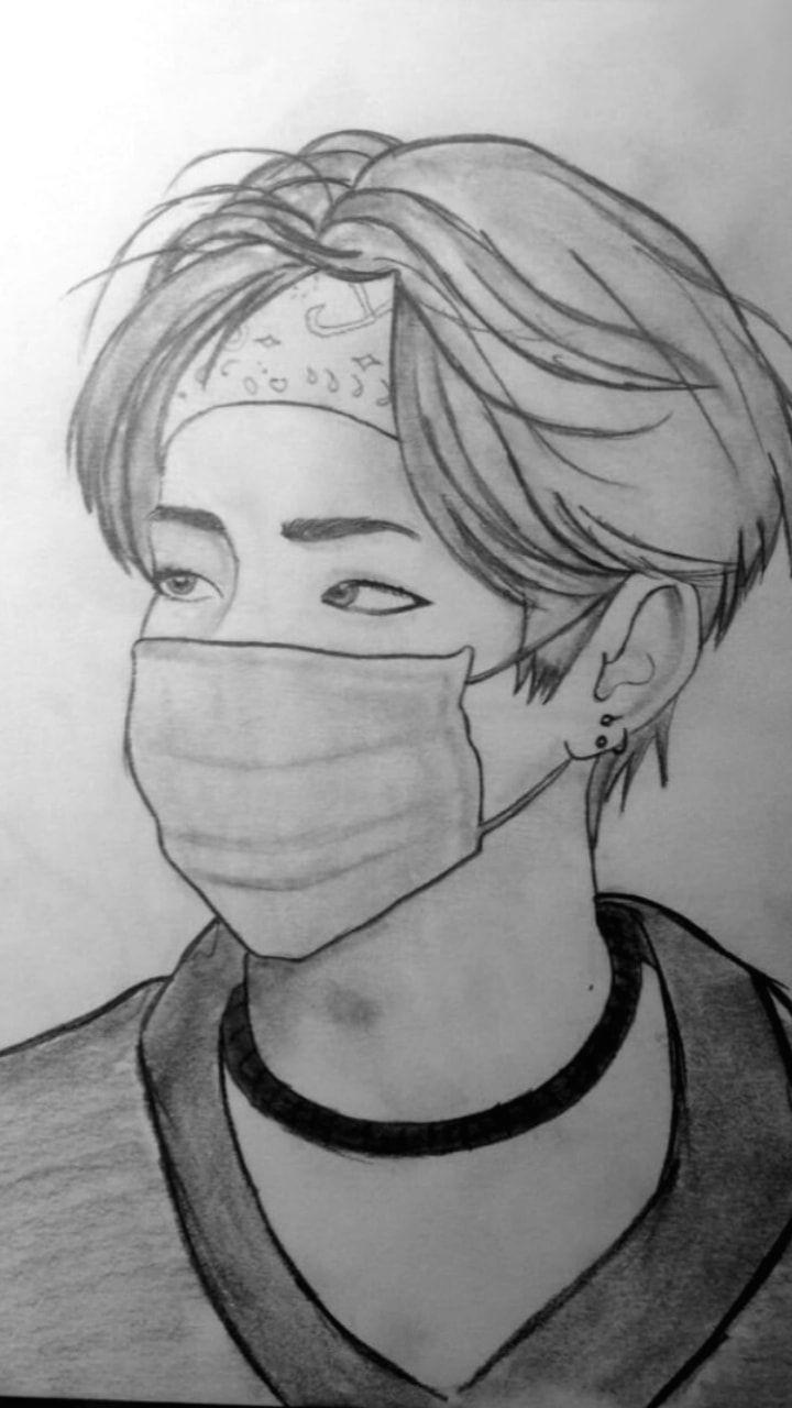 Bts Drawing Easy Jungkook Bts Bangtanboys Love Bts V Kimtaehyung Drawing Bts