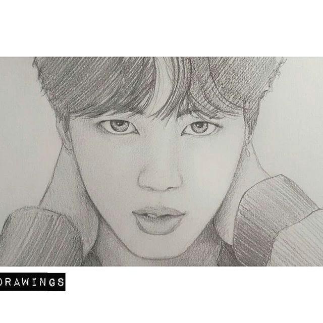 kpop drawings pencil drawings jimin jhope k pop kpop fanart