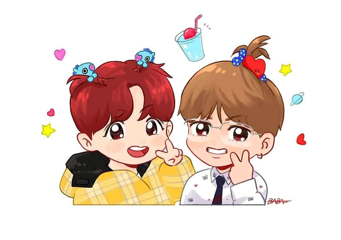 bts chibi bts j hope fan art taehyung jhope bts bts
