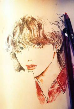 taehyung fanart a drawing tutorials art drawings pretty drawings manga illustration