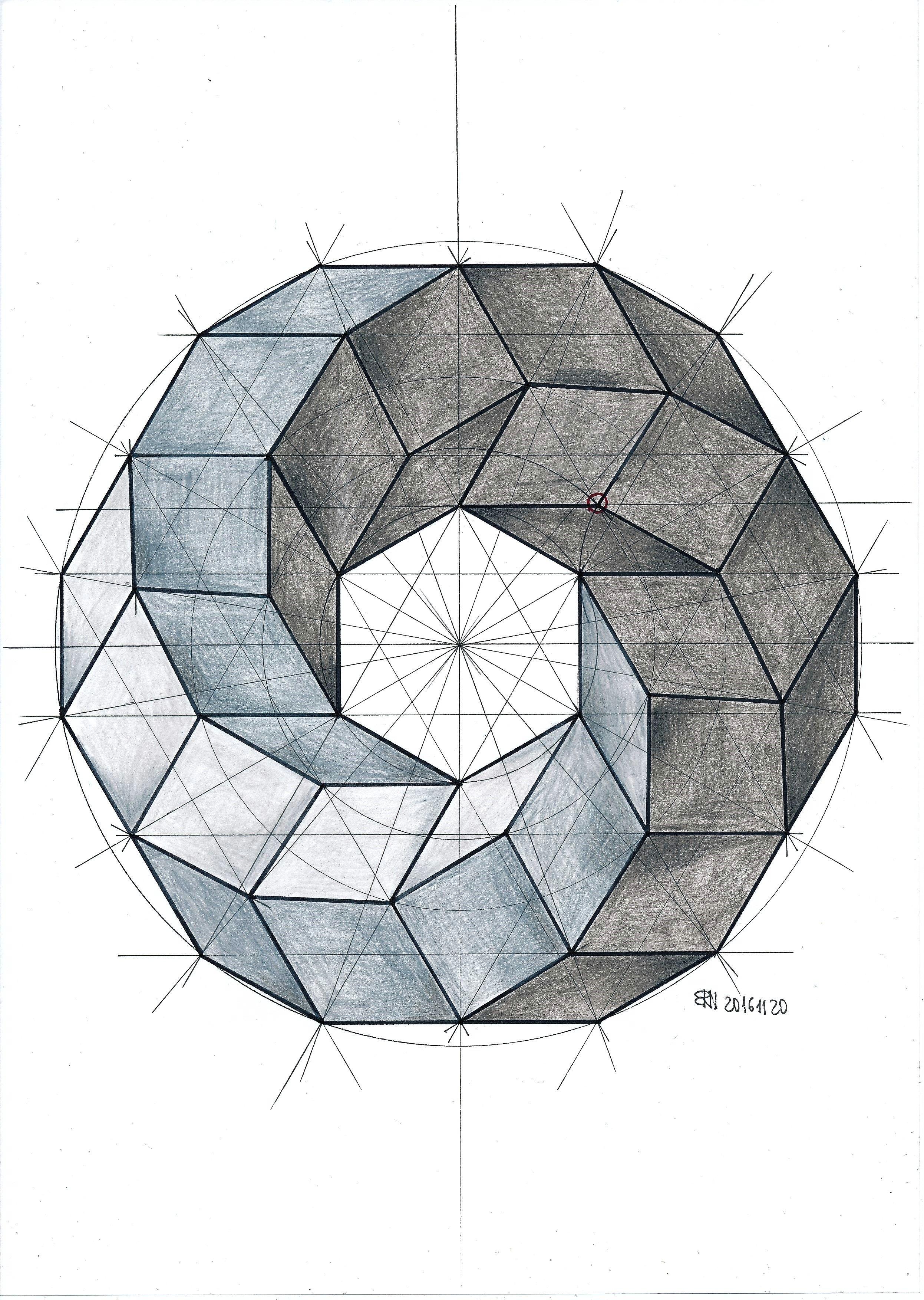 spiral of cubes