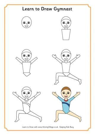 learn to draw a gymnast