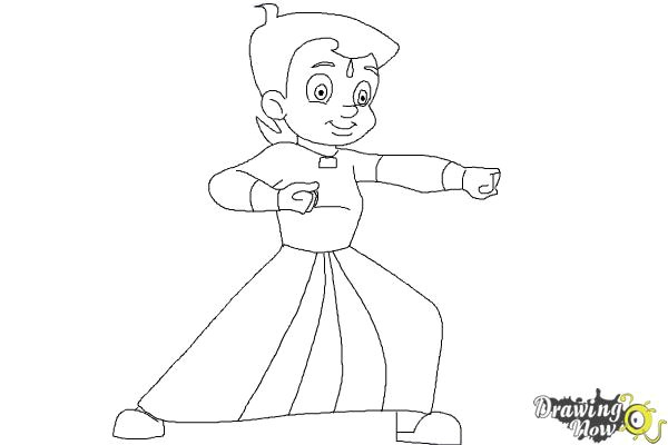 how to draw chhota bheem step 9