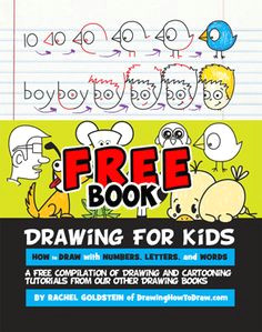 free kids drawing book learn how to draw with letters drawing books for kids